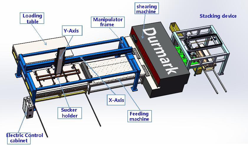 自動送料數控剪板機